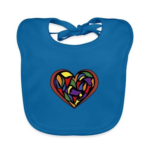cuore di vetro - Bavaglino ecologico per neonato