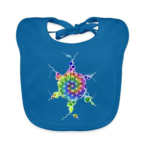 Flower Of Life Neuro Art 4 - Baby Bio-Lätzchen