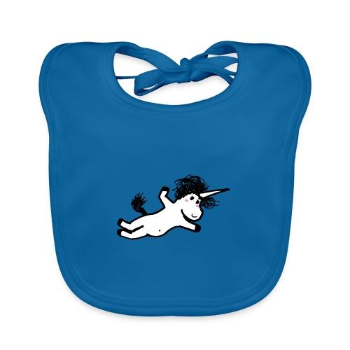 unicorno che si lancia sul nulla - Bavaglino ecologico per neonato