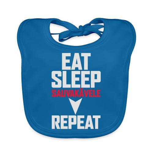 Eat, sleep, sauvakävele, repeat - Vauvan luomuruokalappu