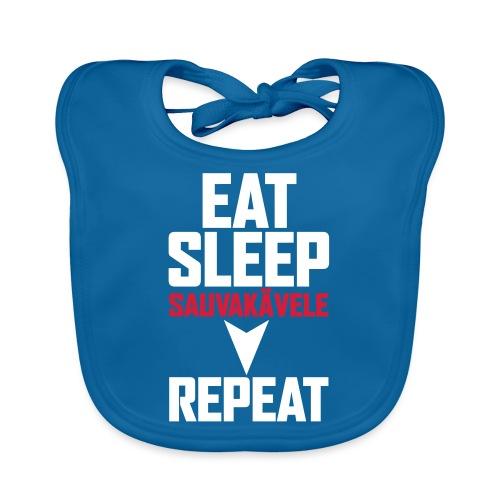 Eat, sleep, sauvakävele, repeat - Vauvan ruokalappu