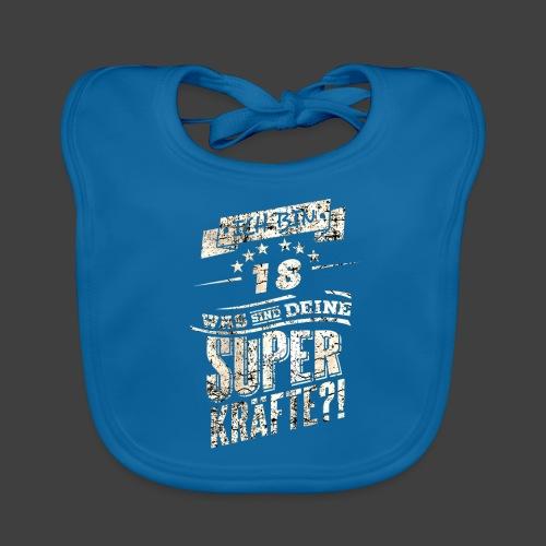 Superkraefte 18. Geburtstag - Baby Bio-Lätzchen