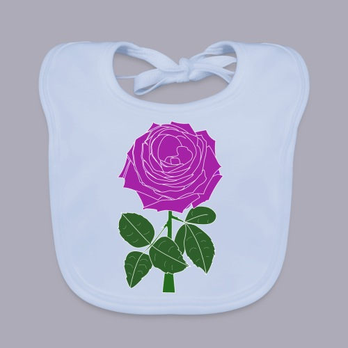 Landryn Design - Pink rose - Baby Organic Bib
