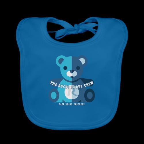 Rocks Teddy Bear - Blue - Bio-slabbetje voor baby's