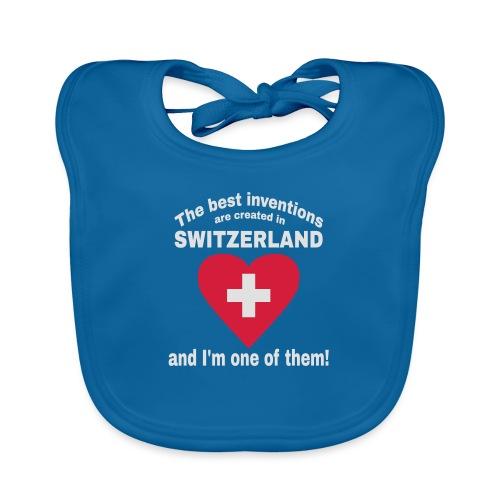 Lustiger Schweiz Spruch für echte Schweizer - Baby Bio-Lätzchen