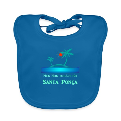 Santa Ponça - mein Herz schlägt für Santa Ponsa - Baby Bio-Lätzchen