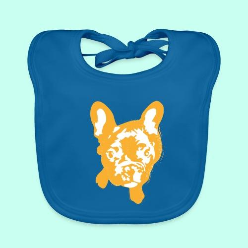 Bulldogge Beige schauend - Baby Bio-Lätzchen