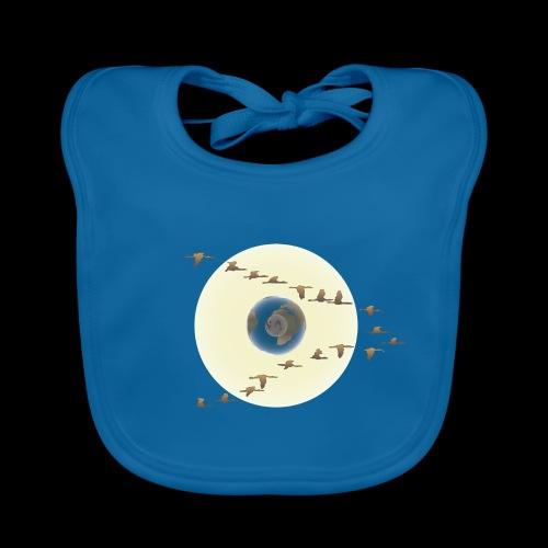 D01 The Silent Sun - Babero de algodón orgánico para bebés