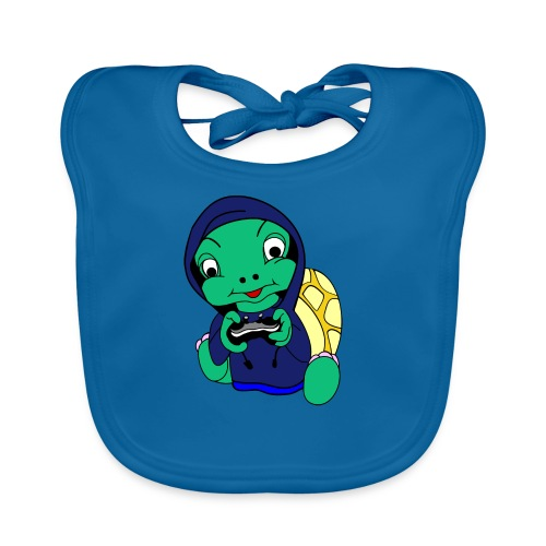 Hoodie gamer schildpad - Bio-slabbetje voor baby's
