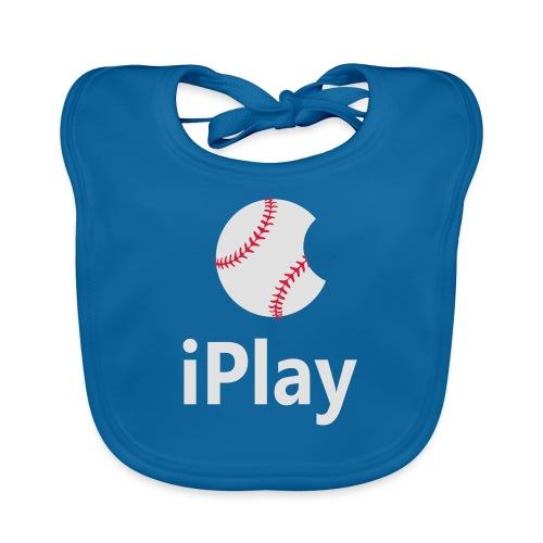 Baseball Logo iPlay - Baby Organic Bib