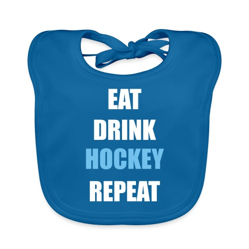 Eat Drink Hockey Repaet - Baby økologisk hagesmæk
