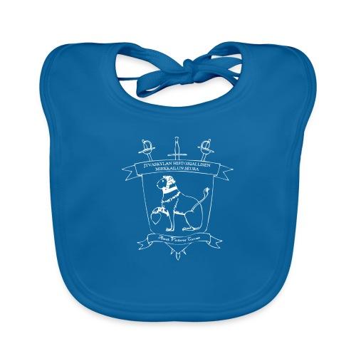 Naisten T-paita, valkoinen logo - Vauvan luomuruokalappu