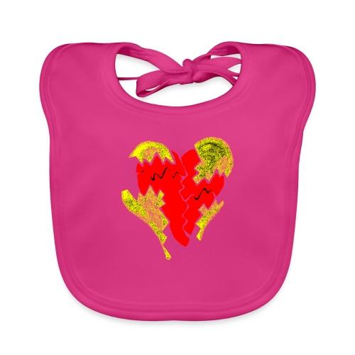 peeled heart (I saw) - Organic Baby Bibs