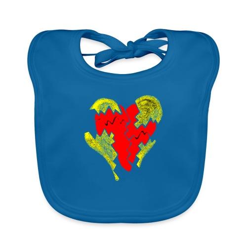 peeled heart (I saw) - Baby Organic Bib
