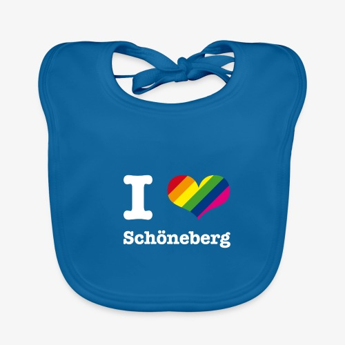 I love Schöneberg Rainbow - Baby Bio-Lätzchen