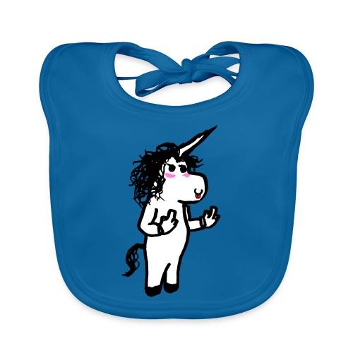 unicorno maleducato - Bavaglino ecologico per neonato