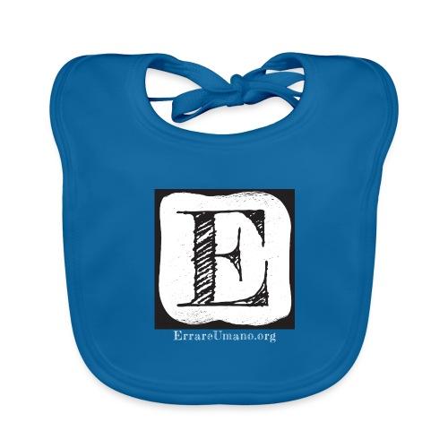 Logo ErrareUmano con scritta bianca - Bavaglino ecologico per neonato