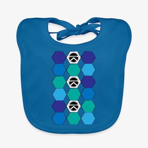 |K·CLOTHES| HEXAGON ESSENCE BLUES & WHITE - Babero de algodón orgánico para bebés