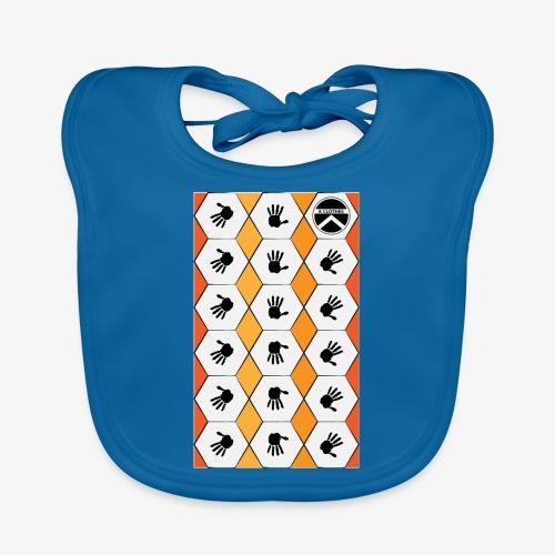 |K·CLOTHES| HEXAGON ESSENCE ORANGES & WHITE - Babero de algodón orgánico para bebés