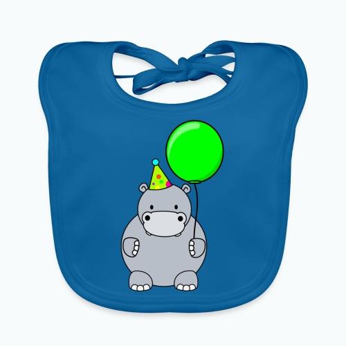 Henri Hippo Party - Appelsin - Ekologisk babyhaklapp