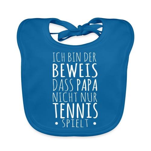 Tennis Papa Baby Beweis Vater Shirt Geschenk - Baby Bio-Lätzchen