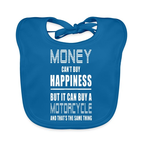 Money Can't Buy Happiness, But Motorcycle - Organic Baby Bibs