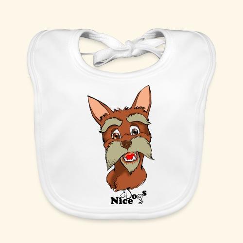 Nice Dogs schnauzer - Bavaglino ecologico per neonato