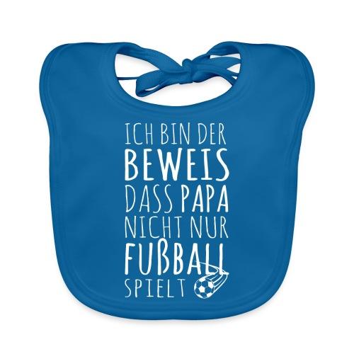 Baby Beweis Fußball Papa Soccer Shirt Geschenk - Baby Bio-Lätzchen