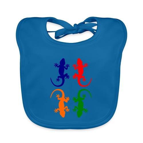 Farbige Geckos - Baby Bio-Lätzchen