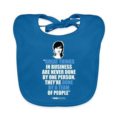 T-Shirt Steve Jobs - Great Things in Business.. - Bavaglino ecologico per neonato