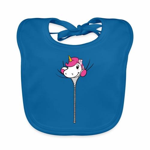 Nina-Nice Zipper Unicorn - Baby Bio-Lätzchen