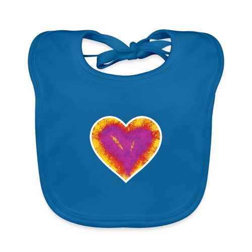Stitched Heart - Organic Baby Bibs