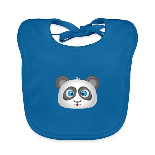 panda head / cabeza de panda 2 - Babero de algodón orgánico para bebés