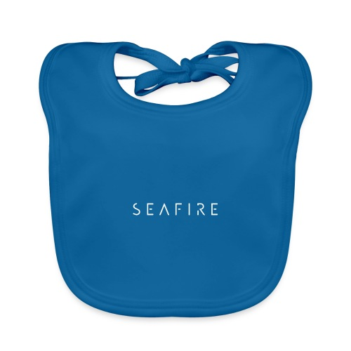 Seafire logo WHITE - Bio-slabbetje voor baby's
