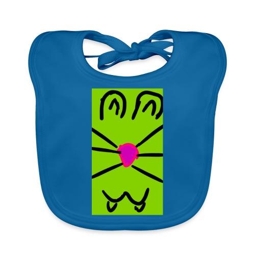 Gato :3 - Babero de algodón orgánico para bebés