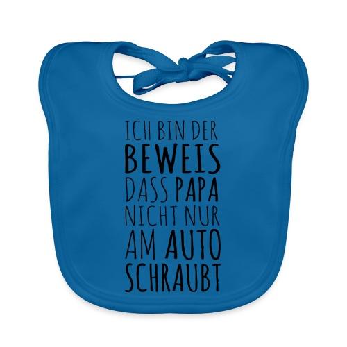 Baby Beweis Papa Auto Schrauber Shirt Geschenk - Baby Bio-Lätzchen