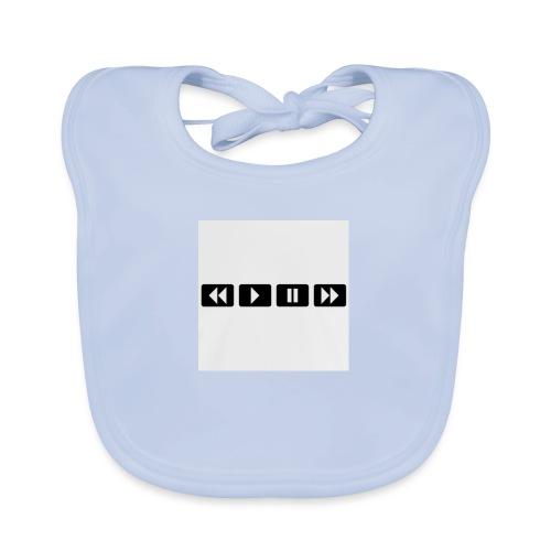 black-rewind-play-pause-forward-t-shirts_design - Bio-slabbetje voor baby's