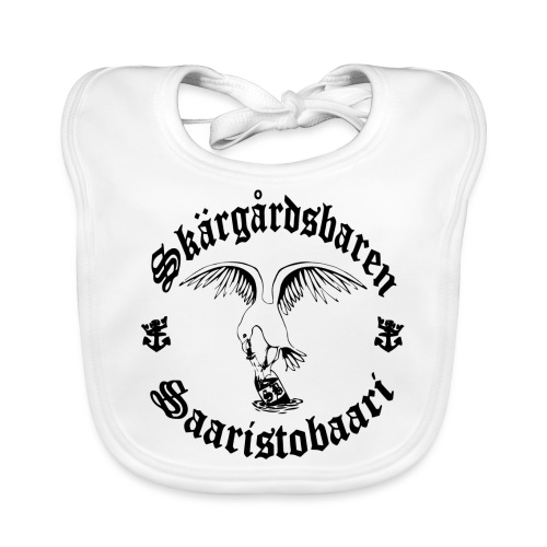 Black n white logo - Vauvan luomuruokalappu