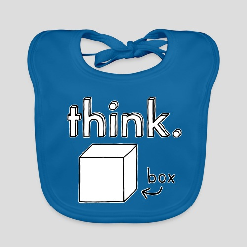 Think Outside The Box Illustration - Baby Organic Bib