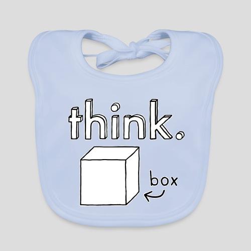 Think Outside The Box Illustration - Baby Organic Bib