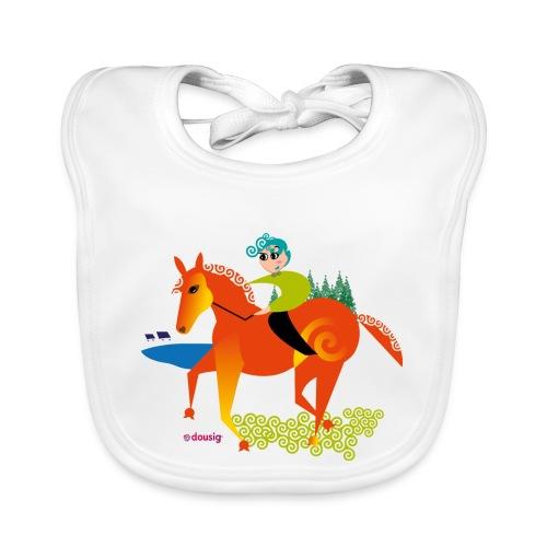 cheval dousig - Bavoir bio Bébé