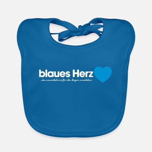 blaues Herz - Baby Bio-Lätzchen