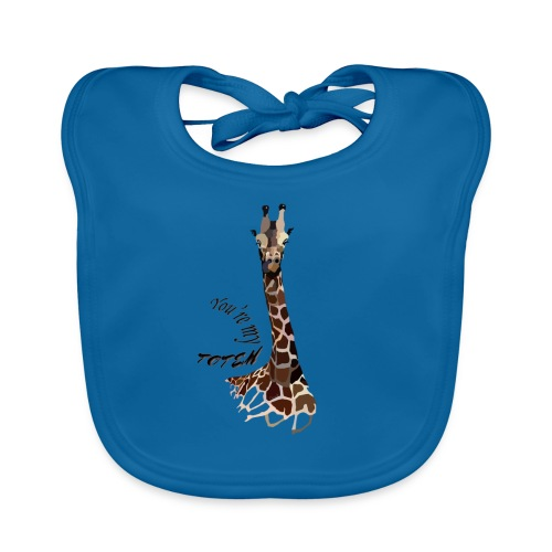 girafe, you're my Totem - Bavoir bio Bébé