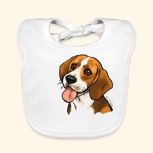 Chien beagle Be my baby (texte blanc) - Bavoir bio Bébé