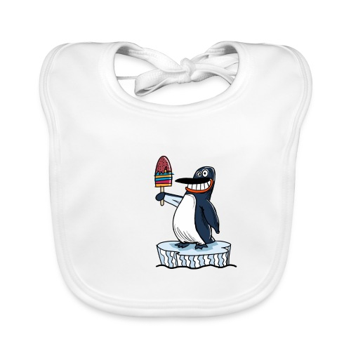 Funny Penguin Icecream Kids Smile: Penguin Ice - Bavaglino