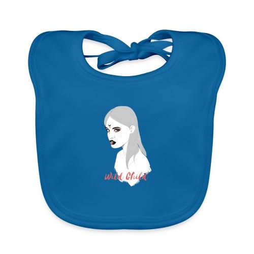 dark t shirt design female - Babero de algodón orgánico para bebés
