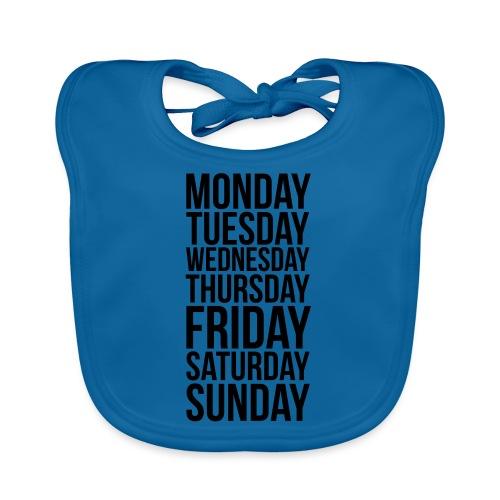 Days of the Week - Baby Organic Bib