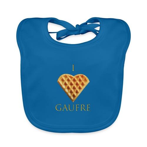 i love gaufre - Bavoir bio Bébé
