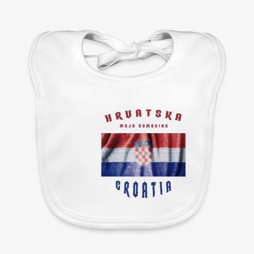 Croatia Hrvatska Flag - Baby Bio-Lätzchen