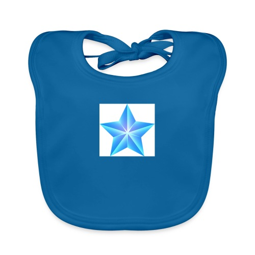 blue themed christmas star 0515 1012 0322 4634 SMU - Baby Organic Bib